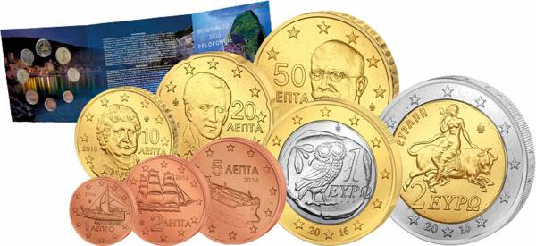 Euro-Kursmünzensatz Griechenland 2016
