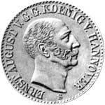 Taler König Ernst August 1843  vorzüglich
