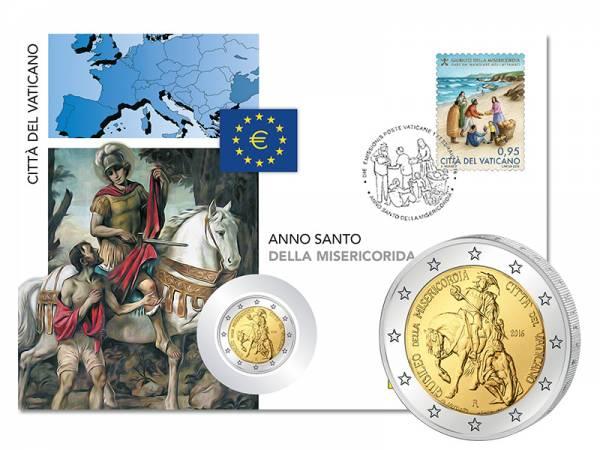 2 Euro Numisbrief Vatikan Heiliges Jahr der Barmherzigkeit 2016