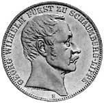 Taler Vereinstaler Georg Wilhelm 1860 Vorzüglich