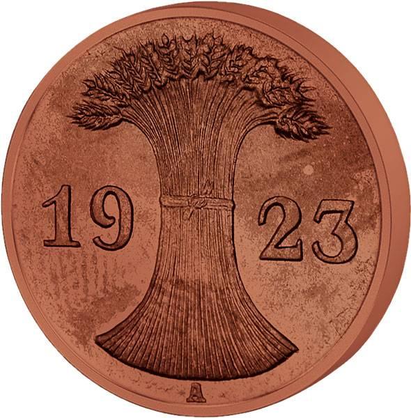2 Rentenpfennig 1923/1924 Sehr schön