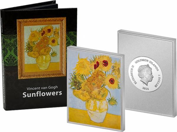 1 Dollar Salomonen Vincent van Gogh Sonnenblume 2014 Polierte Platte