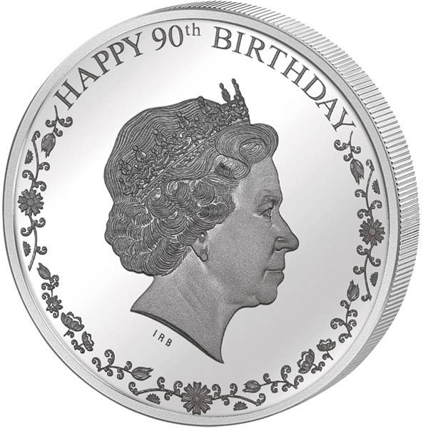 1 Dollar Cook-Inseln 90. Geburtstag von Queen Elizabeth II.