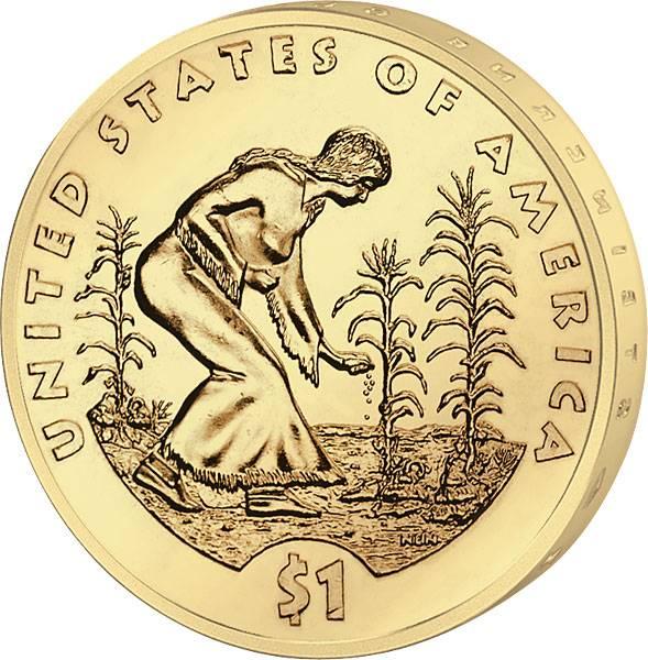 1 Dollar USA Sacagawea Säerin 2009 Stempelglanz