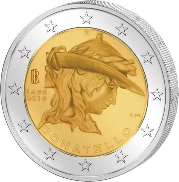 2 Euro Italien 550. Todestag von Donatello 2016 prägefrisch