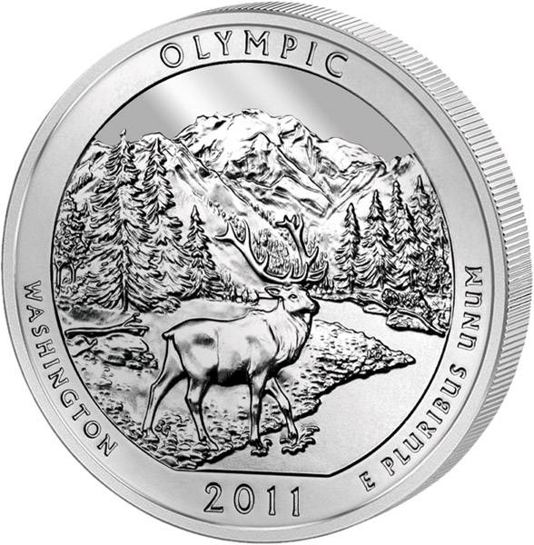 Quarter Dollar USA Washington Olympic Nationalpark