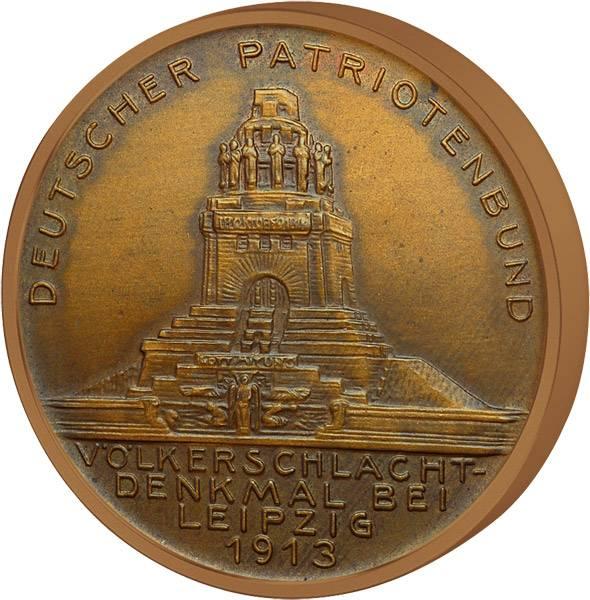 Bronzemedaille Völkerschlachtdenkmal 1913 vorzüglich