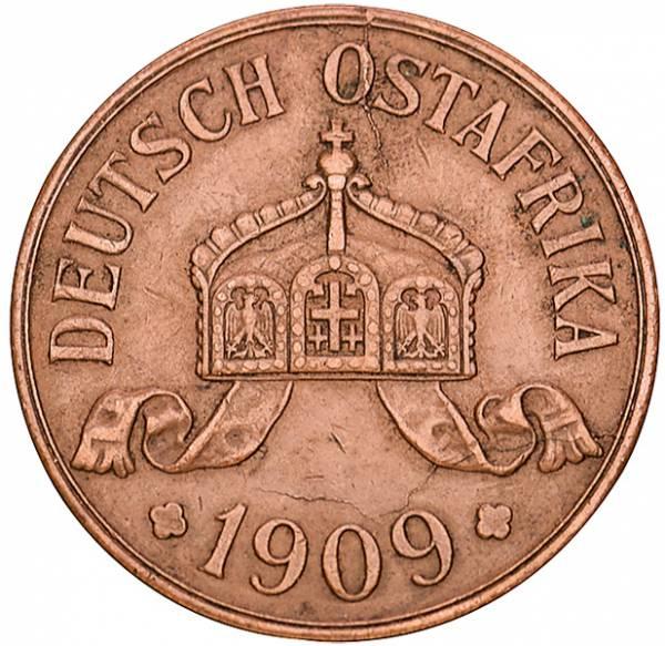 5 Heller Deutsch-Ostafrika Kaiserkrone 1908-1909 Sehr schön