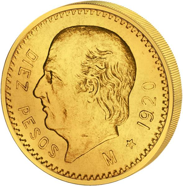 10 Pesos Mexiko Miguel Hidalgo 1905-1959 Sehr schön