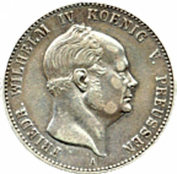 1 Gulden Fürst Friedrich Wilhelm IV. König von Preußen 1849-1861 Hohenzollern-Siegmaringen, vz