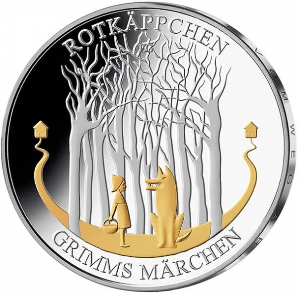 20 Euro BRD Rotkäppchen mit Gold-Applikation