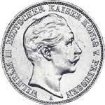 5 Mark Preußen Wilhelm II. 1888 Sehr schön