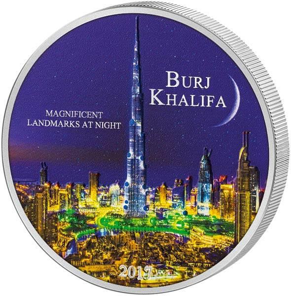2.000 Francs Elfenbeinküste Magnificent Landmarks at Night Burj Khalifa 2017