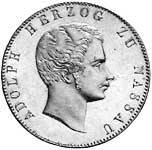 Doppeltaler Silber Adolph, Herzog zu Nassau 1840 ss-vz