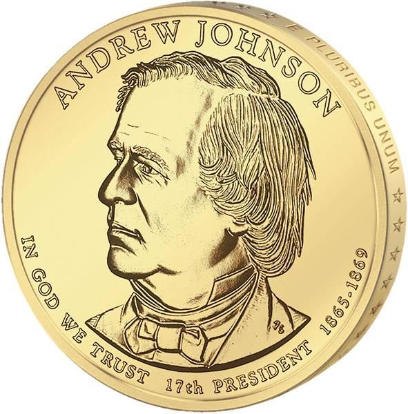 1 Dollar USA Andrew Johnson 2011 Stempelglanz