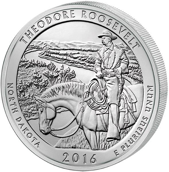 Quarter Dollar USA North Dakota Theodore Roosevelt National Park