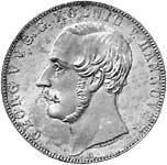Taler Vereinsdoppeltaler Georg V. 1866  vz-pfr