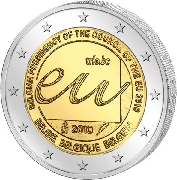 2 Euro Belgien EU-Ratspräsidentschaft