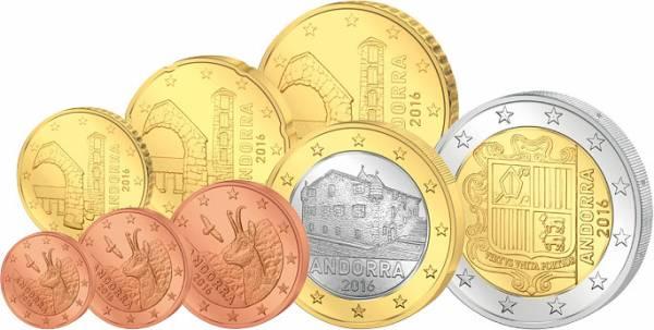Euro-Kursmünzensatz Andorra 2016