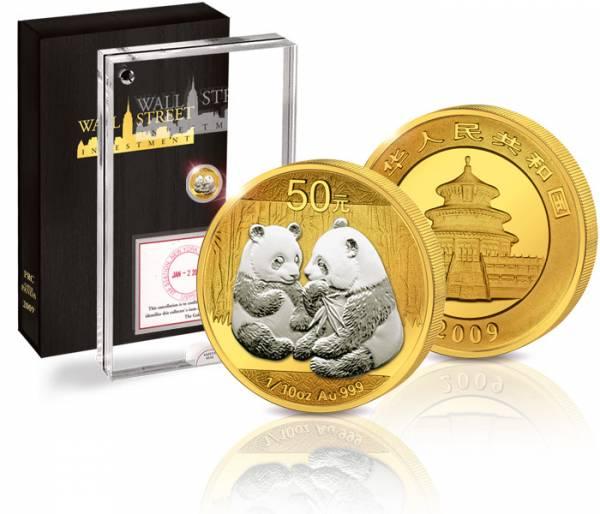 50 Yuan Wall Street Investment-Panda-Bär 2009 Stempelglanz