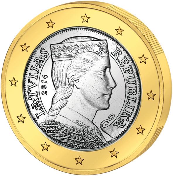Euro Kursmünzensatz Lettland 2014 Lettland Europäische Münzen