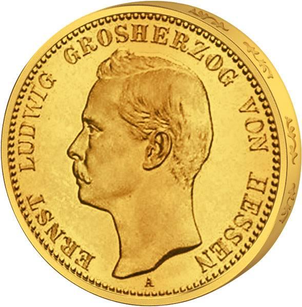 20 Mark Hessen Ernst Ludwig 1896-1903 Sehr schön