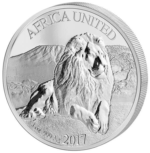 3 Unzen Silber Afrika Africa United Löwe 2017