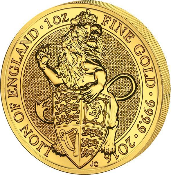 1 Unze Großbritannien Der Englische Löwe
