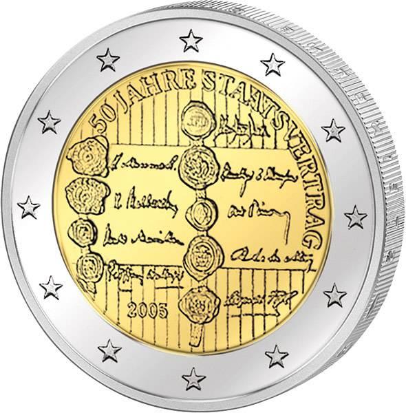 2 Euro Österreich 50 Jahre Staatsvertrag 2005 prägefrisch