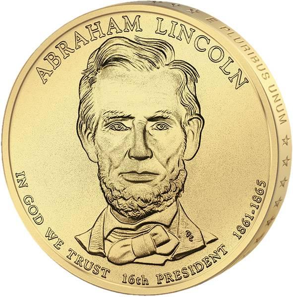 1 Dollar USA Abraham Lincoln 2010 Stempelglanz