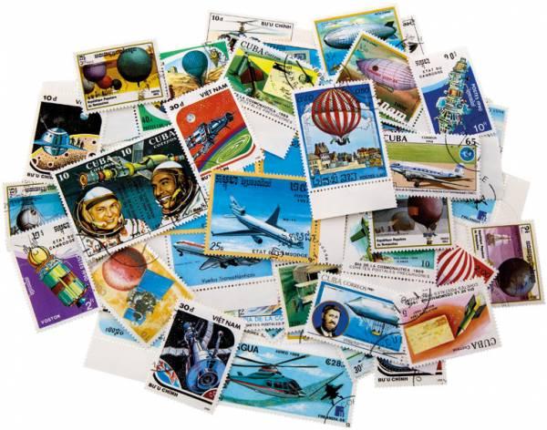 Briefmarken-Set 75 verschiedene Motive aus Luft- und Raumfahrt