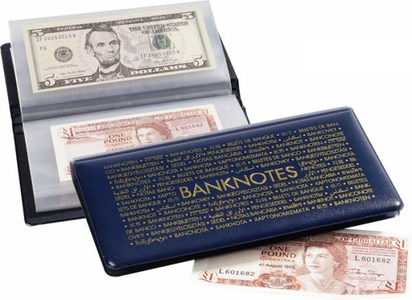 Handliches Taschenalbum für Banknoten