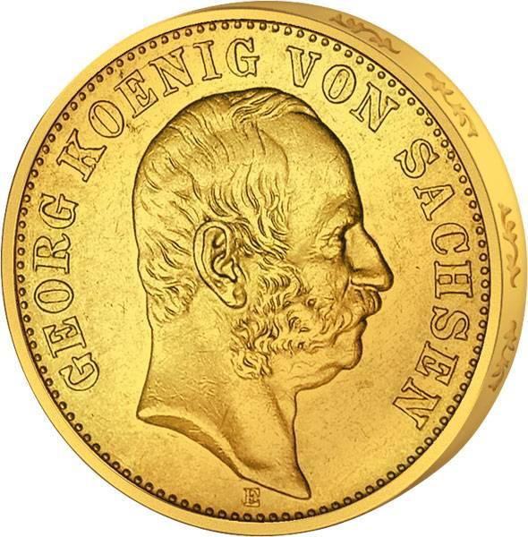 20 Mark Sachsen König Georg 1903-1904 Sehr schön