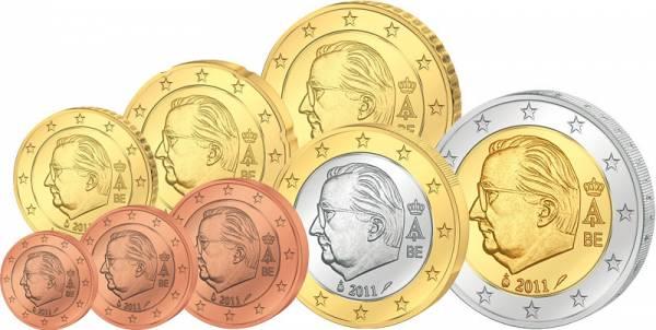 1 Cent - 2 Euro  Euro-Kursmünzensatz Belgien JuW prägefrisch