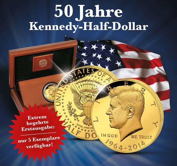 Half-Dollar USA 50 Jahre Kennedy-Half-Dollar 2014 Polierte Platte