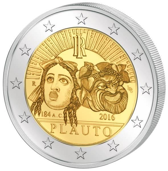 2 Euro Italien 2.200. Todestag Titus Maccius Plautus