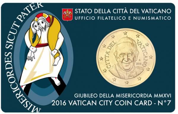 50 Cent Vatikan Heiliges Jahr der Barmherzigkeit 2016 prägefrisch