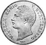 2 Taler Doppeltaler König Wilhelm I. 1846 Vorzüglich