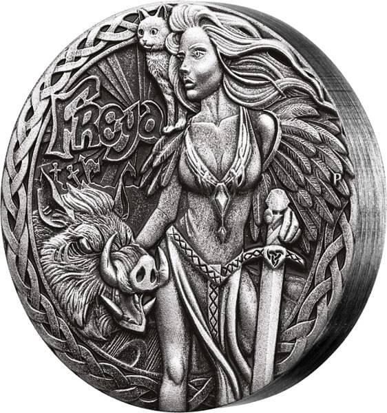 2 Dollars Tuvalu Nordische Götter Freya 2017