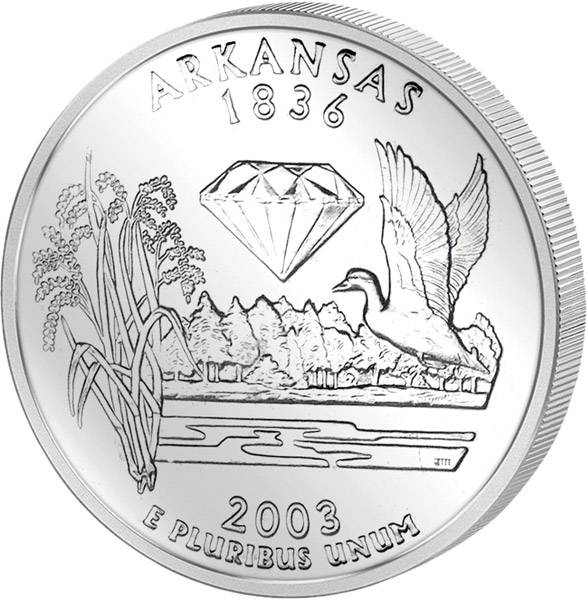 Quarter Dollar USA Arkansas 2003
