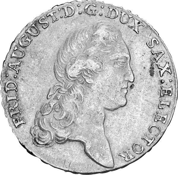 Ausbeutetaler Sachsen Kurfürst Friedrich August III. 1769-1790 sehr schön