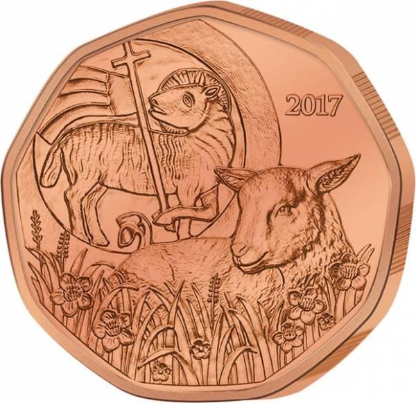 5 Euro Österreich Osterlamm 2017 Kupfer pfrägefrisch