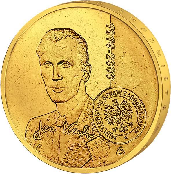 2 Zloty Polen Jan Karski 2014 Stempelglanz