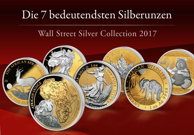 Die 7 weltweit bedeutendsten Silberunzen