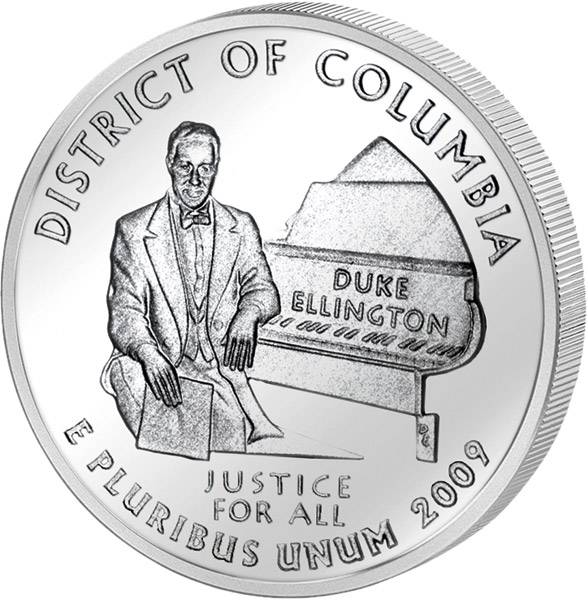 Quarter Dollar USA District of Columbia 2009