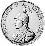 2 Rupien Deutsch Ostafrika Wilhelm II. 1893-1894 Sehr schön