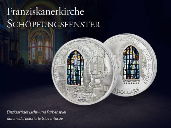 10 Dollars Cook Inseln Franziskanerkirche Schöpfungsfenster 2012  Proof Like
