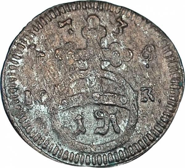 Pfennig Brandenburg-Bayreuth Markgraf Firedrich 1735 - 1750