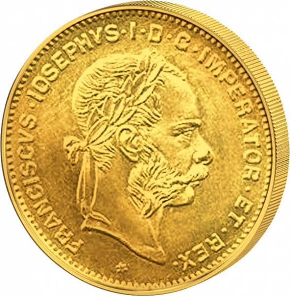 4 Florin Österreich-Ungarn Franz Joseph I. 1870-1892 ss-vz