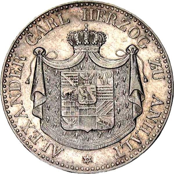 Taler Ausbeutetaler Alexander Carl 1834  ss-vz